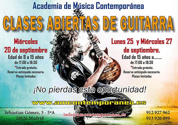 Clases Abiertas de Guitarra